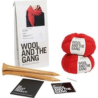 Wool and the Gang Rushmore Scarf Knitting Kit, Red