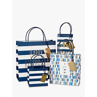 Belly Button Designs Good Times Stripe Bottle Gift Bag, Navy