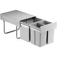 Wesco Triple Pull-Out Kitchen Bin, 40L