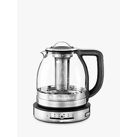 KitchenAid 5KEK1322BSS 1.5L Glass Tea Kettle, Stainless Steel