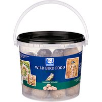 CL Wildlife Wild Bird Food, Fat Balls, Bucket of 30