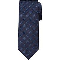 Calvin Klein CK Logo Silk Tie, Navy