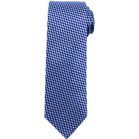 John Lewis Geo Arrow Woven Silk Tie, Navy/Blue
