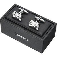 John Lewis Game Controller Cufflinks, Silver