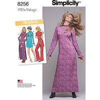 Simplicity Vintage Womens 1970s Dresses Sewing Pattern, 8256