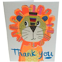 Paper Salad Tiger Thank You Notecards, Pack Of 5