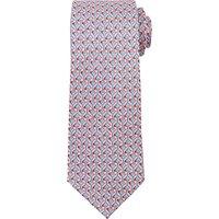 John Lewis Martini Glass Print Woven Silk Tie