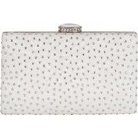 Chesca Floral Lace Diamante Clutch Bag, Ivory