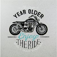 Carte Blanche Motorcycle Birthday Card