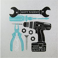 Carte Blanche Tools Birthday Card