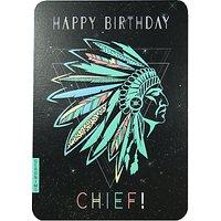 Art File Birthday Chief Greeting Card