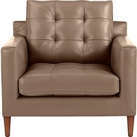 John Lewis Draper Leather Armchair, Dark Leg