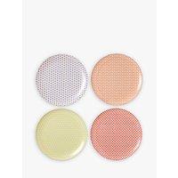 Royal Doulton Pastels Melamine Dinner Plate, Set Of 4, Multi, Dia.25cm