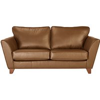 John Lewis Oslo Medium 2 Seater Leather Sofa, Dark Leg