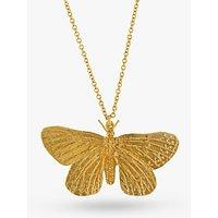 Alex Monroe Butterfly Pendant Necklace, Gold