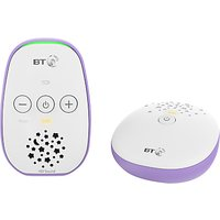 BT Audio Baby Monitor 400, White/Purple