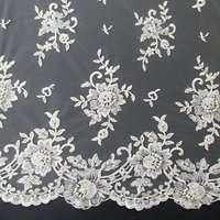 Carrington Fabrics Lucinda Bridal Lace Fabric, Ivory