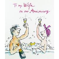 Woodmansterne Wife Anniversary Greeting Card