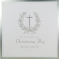 Mint Christening Day With Love Greeting Card