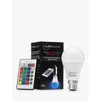 Auraglow 7W BC A60 LED Bulb and Remote Control, Multi