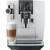 Jura J6 Bean to Cup Coffee Machine, Brilliant Silver