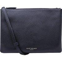 Kurt Geiger Pisces Leather Pouch Clutch Bag, Black