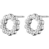 Dyrberg/Kern Textured Crystal Round Stud Earrings
