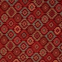 John Lewis Talis Diamond Furnishing Fabric, Red