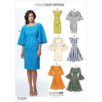 Vogue Womens Dress Sewing Pattern, 9239