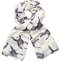 John Lewis Flying Geese Print Scarf, Midnight/White