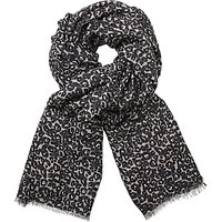 John Lewis Animal Spot Scarf, Charcoal