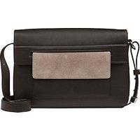 Jaeger Contrast Pocket Shoulder Bag, Black / Grey