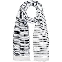 French Connection Dallas Stabstitch Scarf, White/Utility Blue