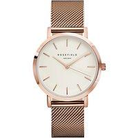ROSEFIELD Womens The Mercer Mesh Bracelet Strap Watch