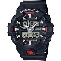 Casio GA-7001-AER Mens G-Shock Chronograph Digital Resin Strap Watch, Black/Grey