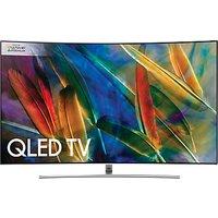 Samsung QE75Q8C Curved QLED HDR 1500 4K Ultra HD Smart TV, 75 with TVPlus/Freesat HD & 360 Design, Silver, Ultra HD Premium Certified
