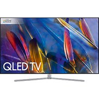 Samsung QE75Q7F QLED HDR 1500 4K Ultra HD Smart TV, 75 with TVPlus/Freesat HD & 360 Design, Silver, UHD Premium