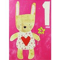 Paper Salad Rabbit Age 1 Birthday Card