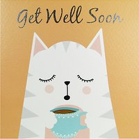 Really Good Get Well Soon Cat Card