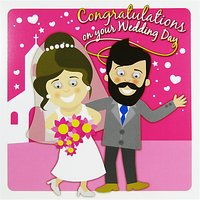 Saffron Cards And Gifts Congratulations Wedding Day Greeting Card