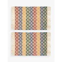 John Lewis Alfresco Stripe Placemats, Set of 2, Multi