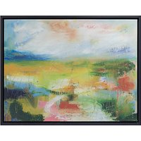 Lesley Birch - A Green Landscape Framed Canvas Print, 60 x 73cm