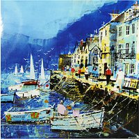 Woodmansterne Boats At Harbour Greeting Card