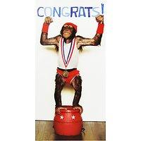 Woodmansterne Chimp Congratulations Greeting Card