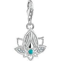 Thomas Sabo Madala Lotus Charm, Silver/Blue