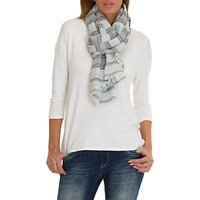 Betty & Co. Long Striped Scarf, Blue/White