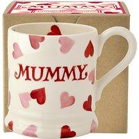 Emma Bridgewater Hearts Mummy Half Pint Mug, Pink, 284ml