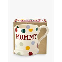 Emma Bridgewater Polka Dot Mummy Half Pint Mug, Multi, 284ml