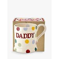 Emma Bridgewater Polka Dot Daddy Half Pint Mug, Multi, 284ml