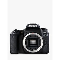 Canon EOS 77D Digital SLR Camera, HD 1080p, 24.2MP, Wi-Fi, Bluetooth, NFC, Optical Viewfinder, 3 Vari-Angle Touch Screen, Body Only
